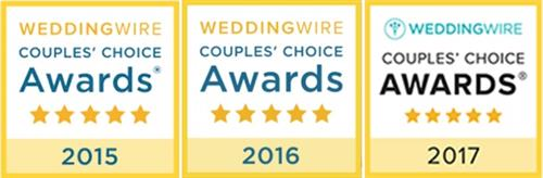 We won WeddingWire's Couple Choice Award for the past 3 years!