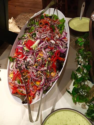 Colorful salad.