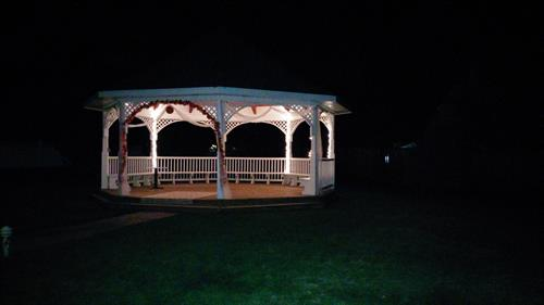 Gazebo in the night
