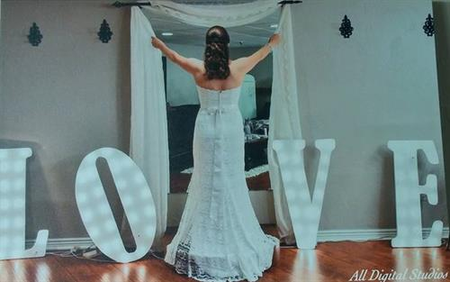 A Bride opening her heart to LOVE