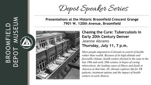 Event - Chasing the Cure: Tuberculosis in Early 20th Century Denver