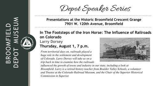 Event: In the Footsteps of the Iron Horse: The Influence of Railroads on Colorado