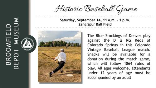 Events - Historic Baseball Game
