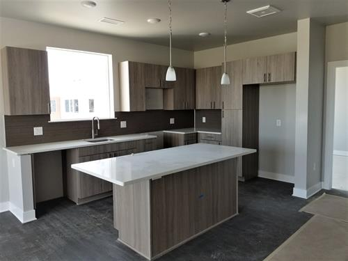 You will see luxurious finishes in our apartment homes. Quartz slab counter tops, with under cabinet lighting creates the perfect feel to your spacious kitchen.