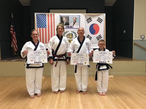 Certification of newest Cho Dans.