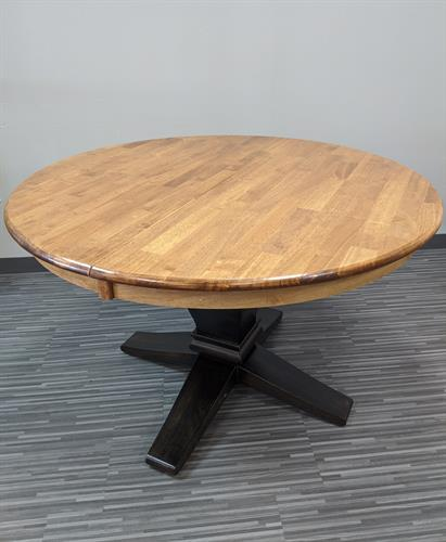 Pedestal table finished using General Finishes stains