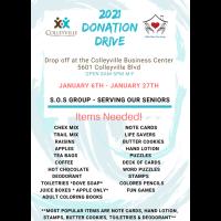 Serving Our Seniors 2021 Donation Drive