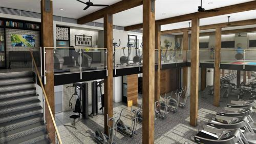 Two-Story Fitness Center w/ Dedicated Yoga and Spin Studio