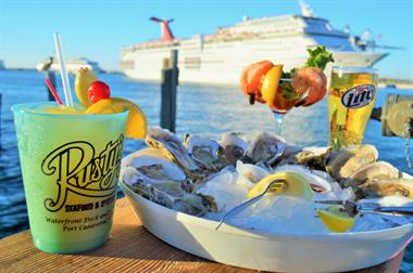oysters and cold drinks