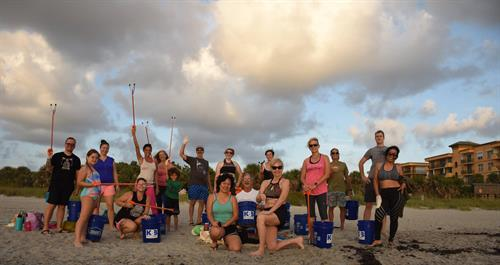 One of our Beach crews for Yoga and Clean-up for our #KBB Adopted Shore at Cherie Down Park.