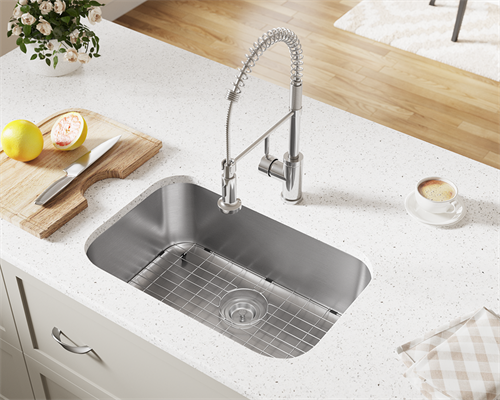 We offer a large selection of sinks including Stainless steel, quartz composite and white china sinks.