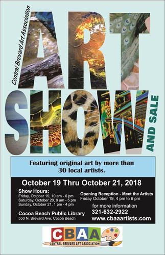 CBAA Annual Fall Art Show and Sale October 19 - 21
