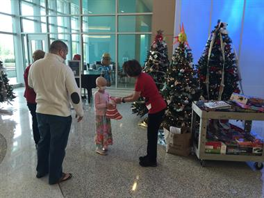 Gift delivery to Nemours Children's Hospital