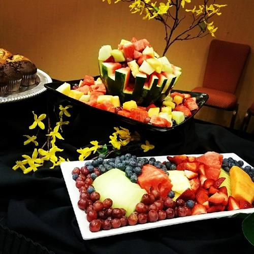 Seasonal Fruit Salad Display