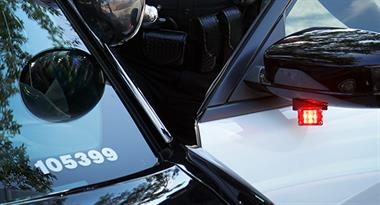 Phantom Products' Phantom Moray Mirror lighting is used by the Melbourne PD for side visibility on their police cars.