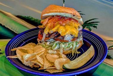 Deluxe Black Angus Beef Cheeseburger!