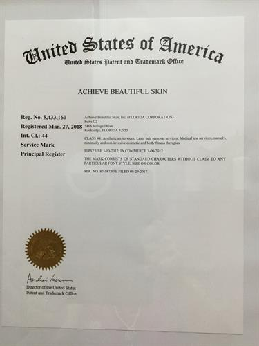 TRADEMARK:  ACHIEVE BEAUTIFUL SKIN