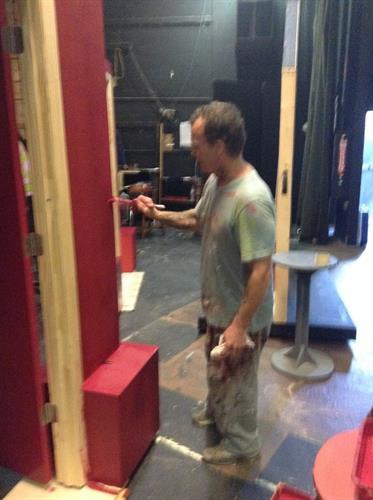 Set Crew hard at work. Volunteers needed!