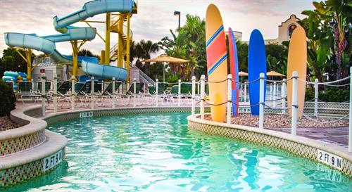 Lazy river and water slide
