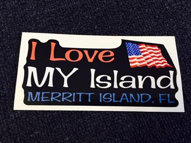 We sell I Love My Island Stickers...