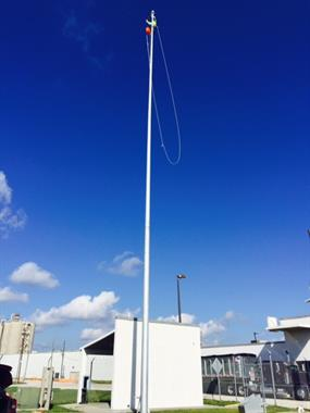 Working on Port Canaverals 80ft Flagpole.