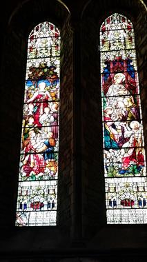 Stained Glass Windows inside St. Canice, Kilkenny Ireland