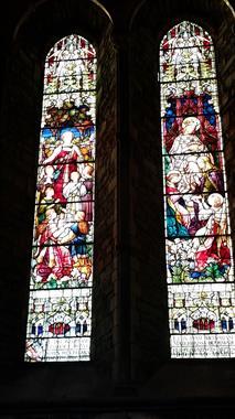 Stained Glass Windows inside St. Canice, Kilkenny Ireland