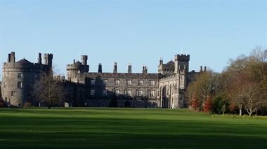 Kilkenny Castle from the pathway by the water.