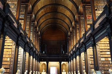 The Long Room at Trinity College, after seeing the Book of Kells, Dublin