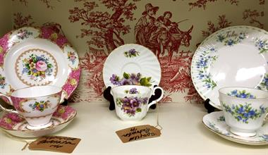 Lots of Tea Cups and Saucers for a Special Shower or Celebration