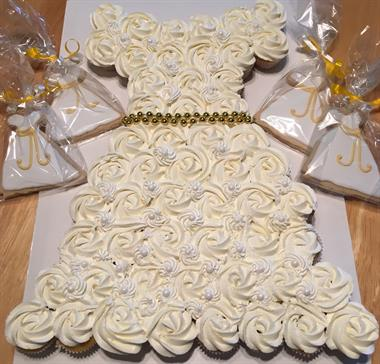 Cupcake Wedding Dress and Cookies to Match