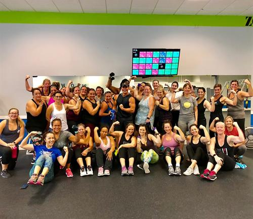 Awesome Group of Ladies with National Champion Body Builder Shane Freels