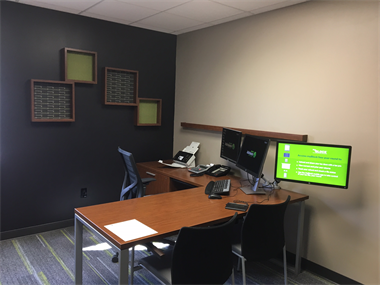 Each of our tax pros has their own personal office for privacy.