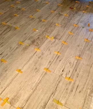 WOOD LOOK TILE INSTALLATION