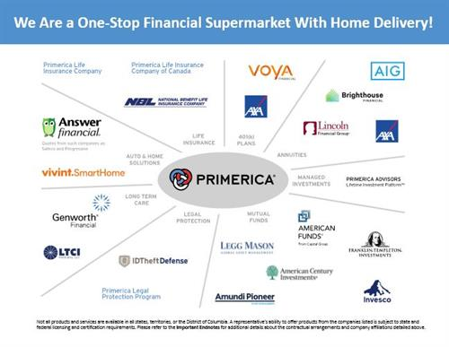 We are a one stop Financial Supermarket with Home Delivery