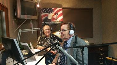 Radio Host Joe Steckler (L) with John Harper, Vice President (R)