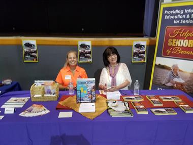 Elaine Deremer Cook and Kay Keyser at WEAAD Community Fair