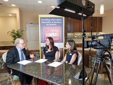 Helping Seniors TV Filming with TV Host Joe Steckler