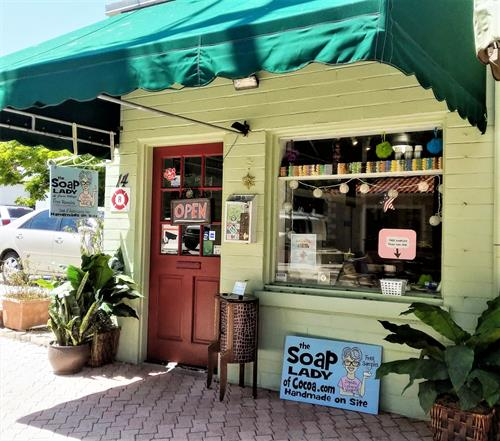 The Soap Lady of Cocoa's Shoppe in Cocoa Village. Come visit!