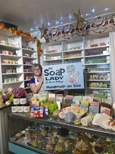 Lisa Marie, The owner and operator of The Soap Lady of Cocoa