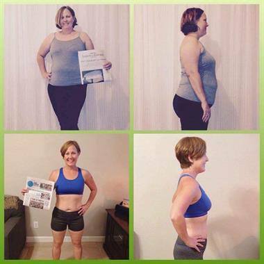 Before & After 30 Days to Healthy Living and Beyond!