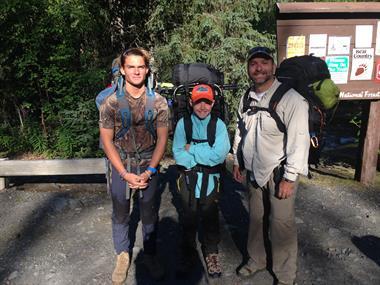 Family Hiking Alaska