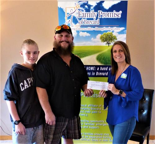 The Hill Family donated $2,000 after going through our shelter program and being stably housed for the past 4 years.