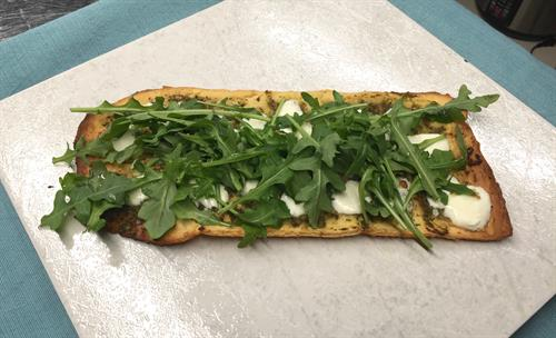 Walnut Arugula Pesto Flatbread
