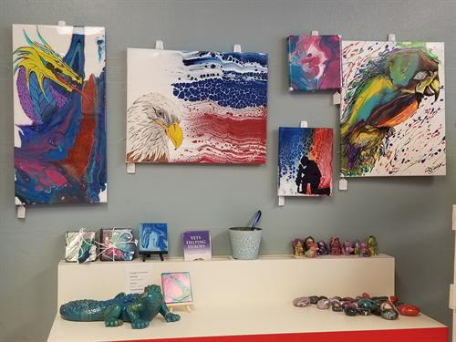 Local artist , Deanna Sauter, paintings and things for sale