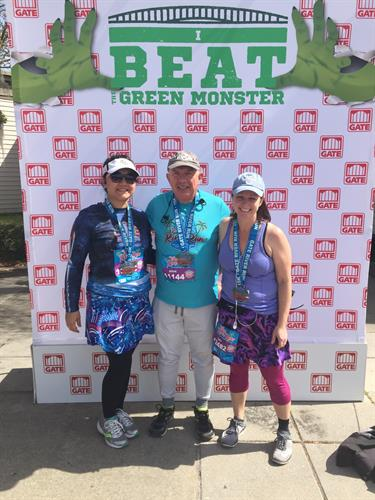 Steve, Tracy, and Dawn after the Jacksonville 2018 Gate River Run 15K Race