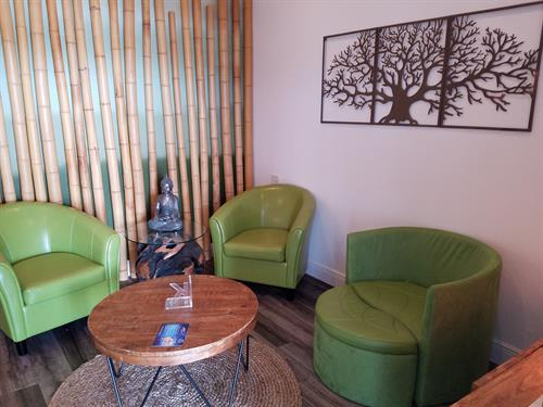 Relax in our Waiting Room
