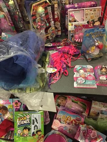 Some of Dynamic Participators toy donations of many!