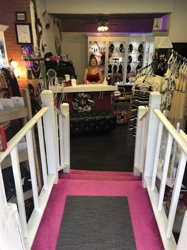 The entrance into our beautiful boutique