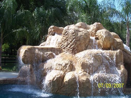 Multi-tier Custom Water Feature (6) waterfalls